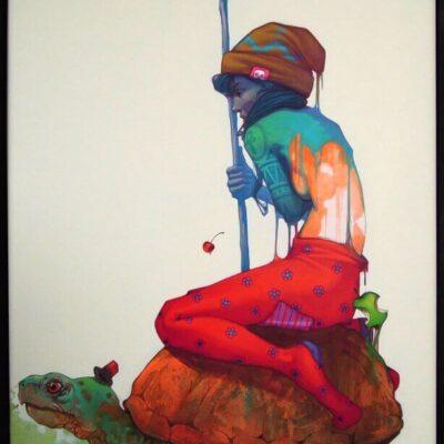 Etam - The journey, acrylics & oils on canvas, 120x80cm, 2012
