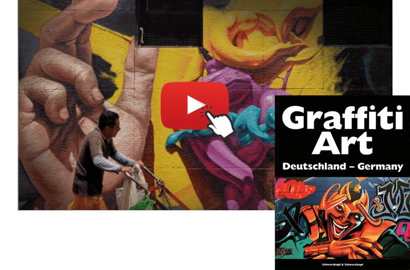 Buch Reihe zum Graffiti