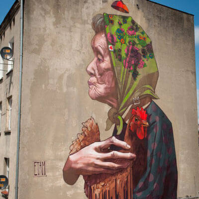 Graffiti Künstler Etam Crew