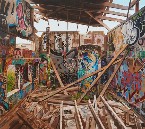 Jessica Hess, Break Free, 2019, Acrylic and oil on canvas 185cm x 165cm