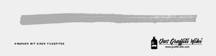 Filzspitzenmarker im Bild