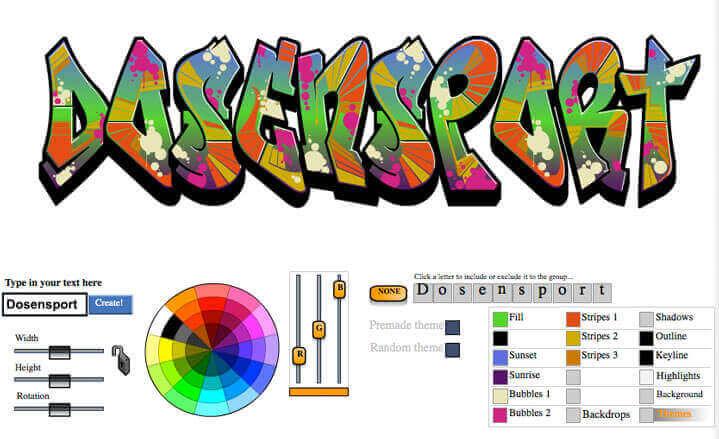 Online Graffiticreator von graffiticreator.net