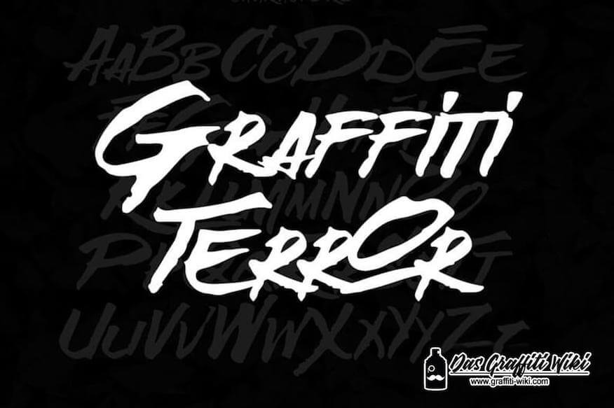 Graffiti-Schrift Abbildung von Broken Wings