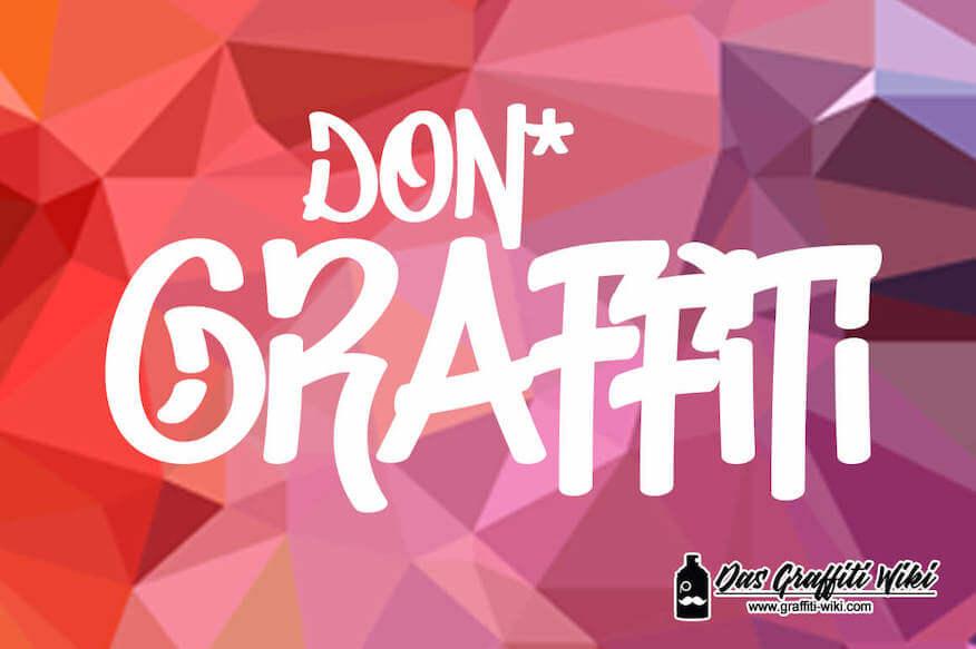 Kostenlose Graffiti-Schrift von Don Marciano