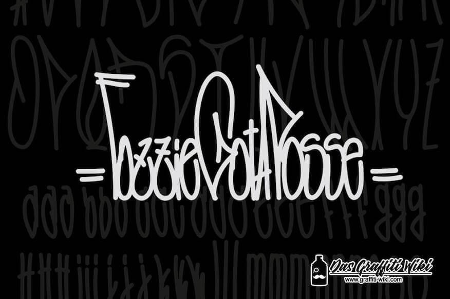Kostenlose Graffiti-Schriftart: Fozzie-Got-A-Posse-Typeface