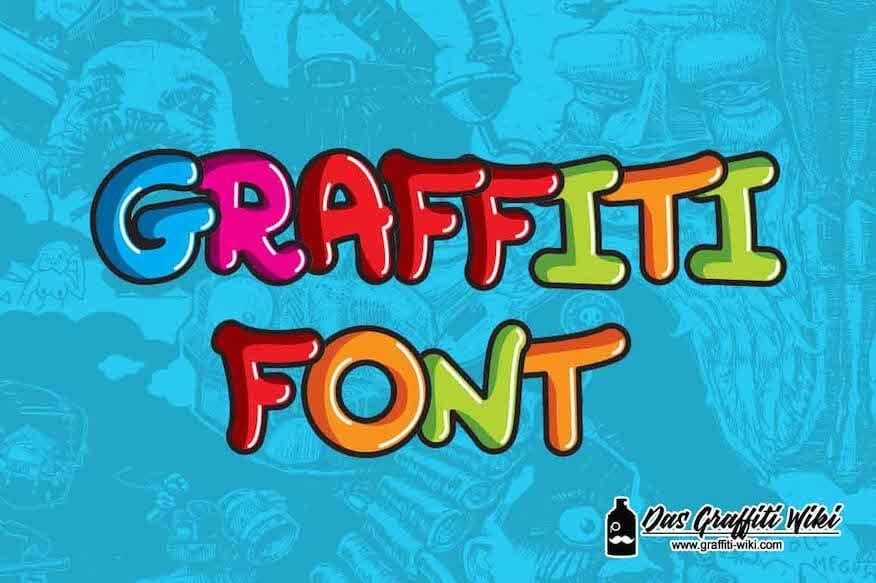 Kostenlose Graffiti-Schrift: Bubblespass