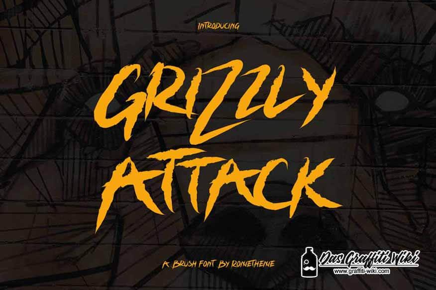Abbildung der Schriftart Grizzly Attack