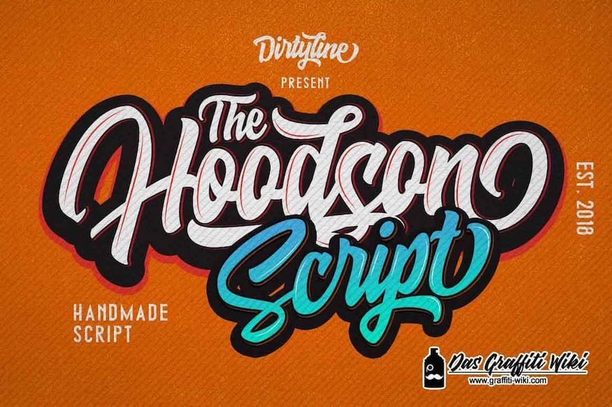Hoodson-Script Schriftart