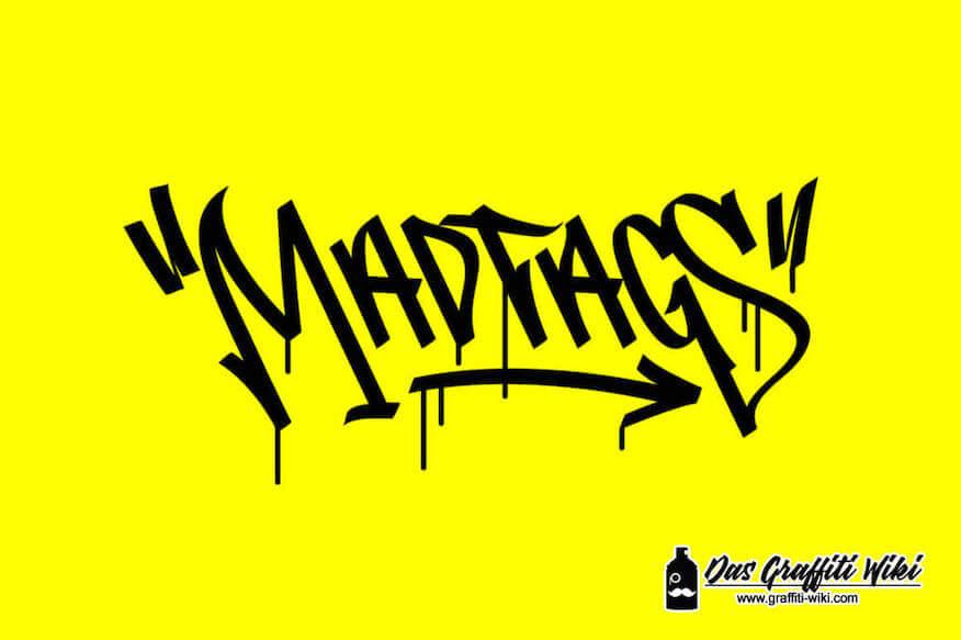 Madtags Graffiti-Schrift von dem Entwickler