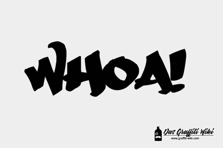Graffiti-Schrift Druckbild von WHOA
