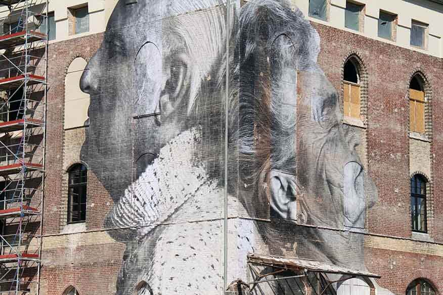 Cut-Out von JR Street-Art