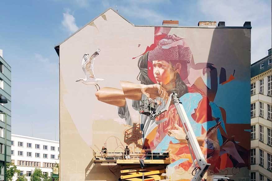 Mural eine Street Art Technik